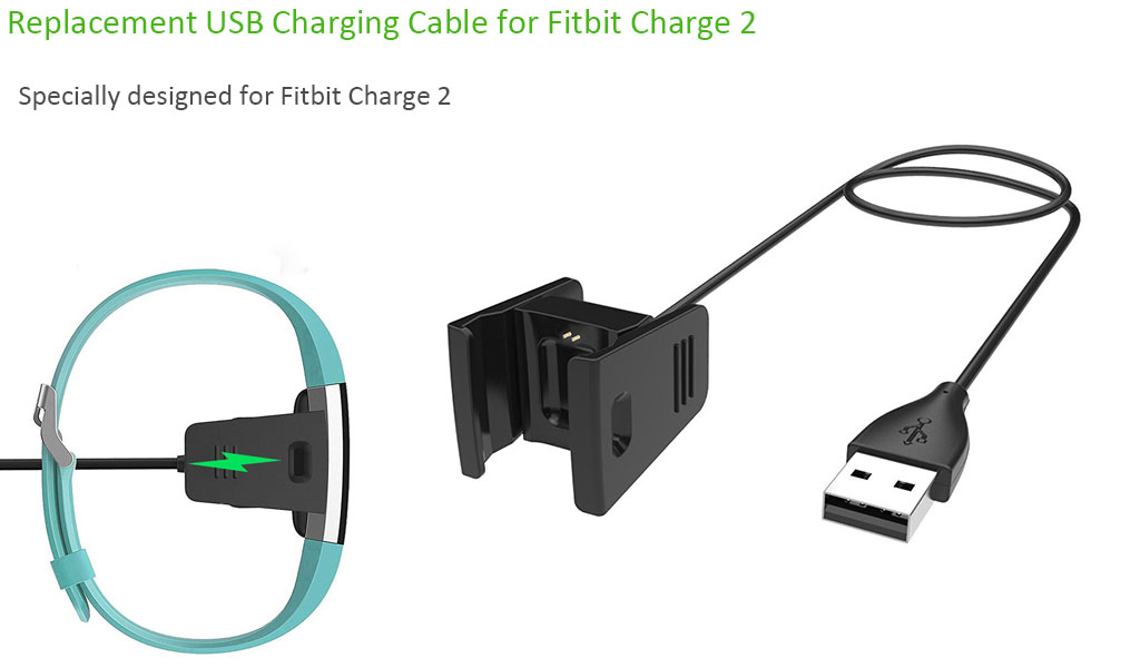 Eeekit For Fitbit Charge 2 Replacement Usb Charging Cord