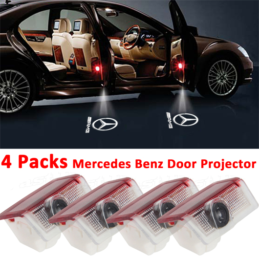 Eeekit 4 packs mercedes benz logo led door courtesy light for Mercedes benz door lights