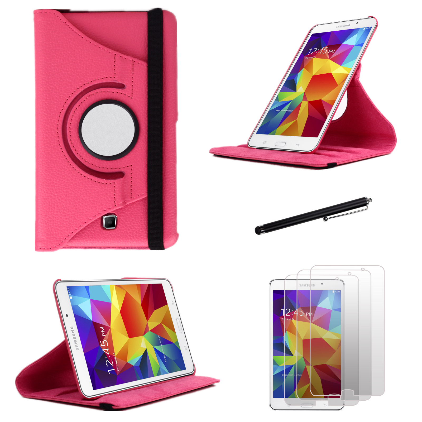 EEEKit for Samsung Galaxy Tab 4 8.0 T330,Rotating Stand Case+Screen Film+Stylus at Sears.com