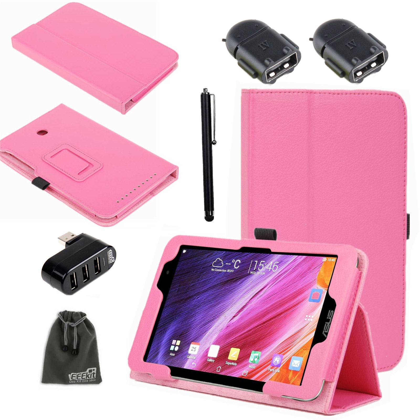 EEEKit for Asus Memo Pad ME176CX/176C 7 Inch Tablet,OTG Adapter+Stand Cover Case