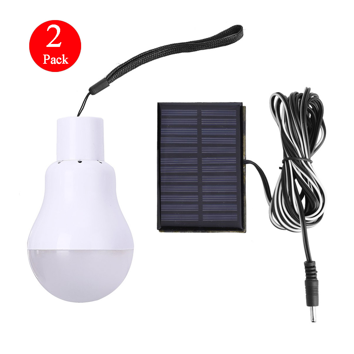 15w Rechargeable Solar Panel Powered LED Bulb Lamp Home Camping ...