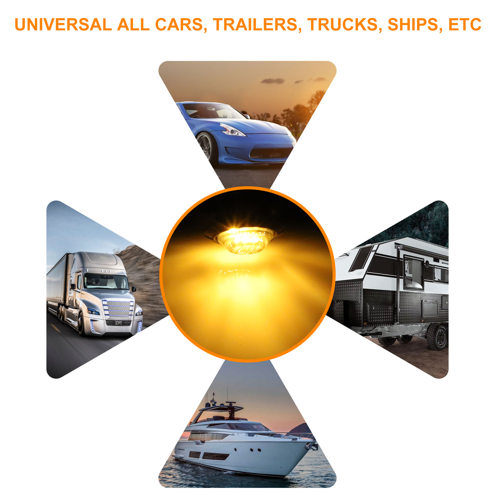 20x Smoked 3  4 U0026quot  Round Led Bullet Clearance Truck Trailer