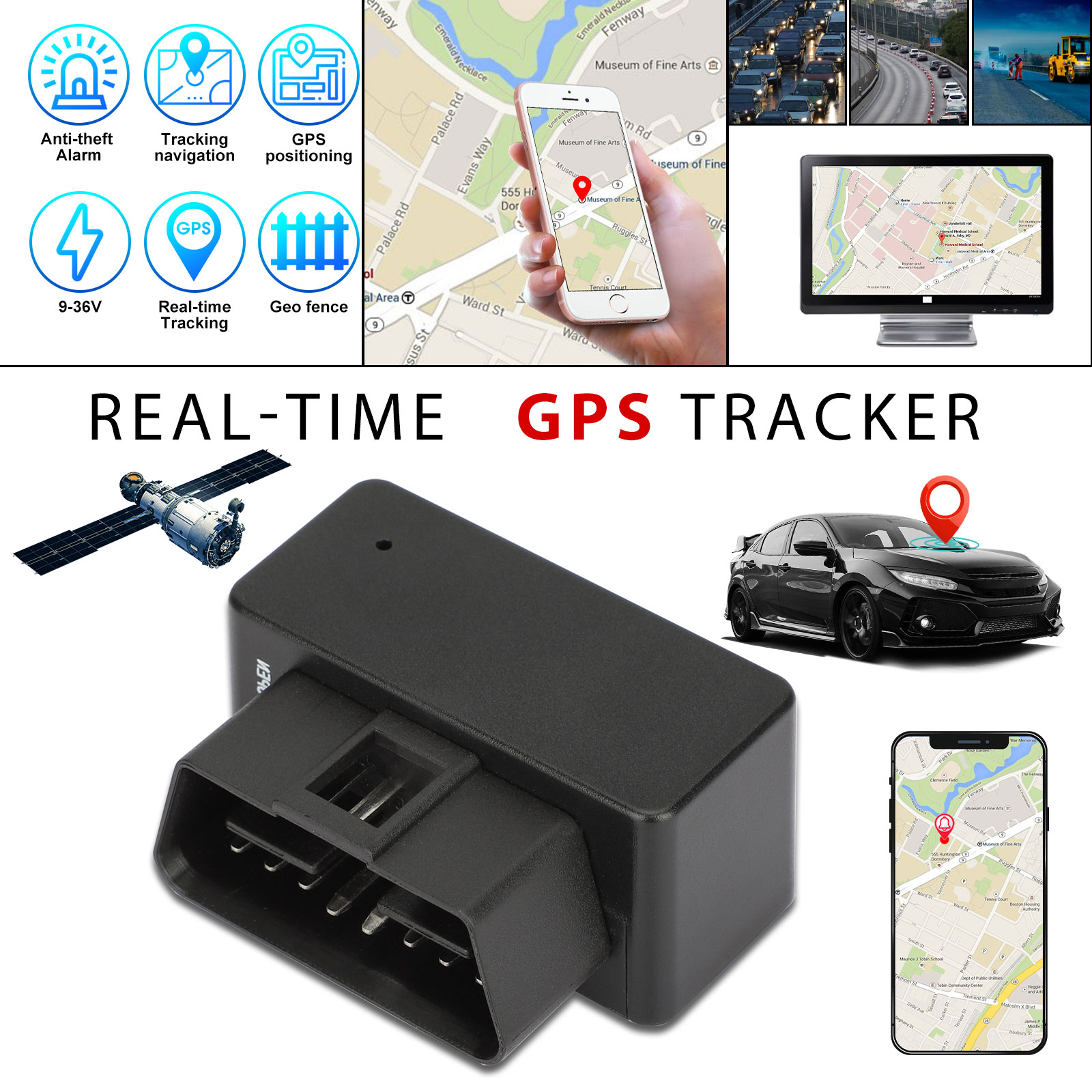 OBD2 GPS Tracker Real Time Vehicle Tracking Device GSM GPRS