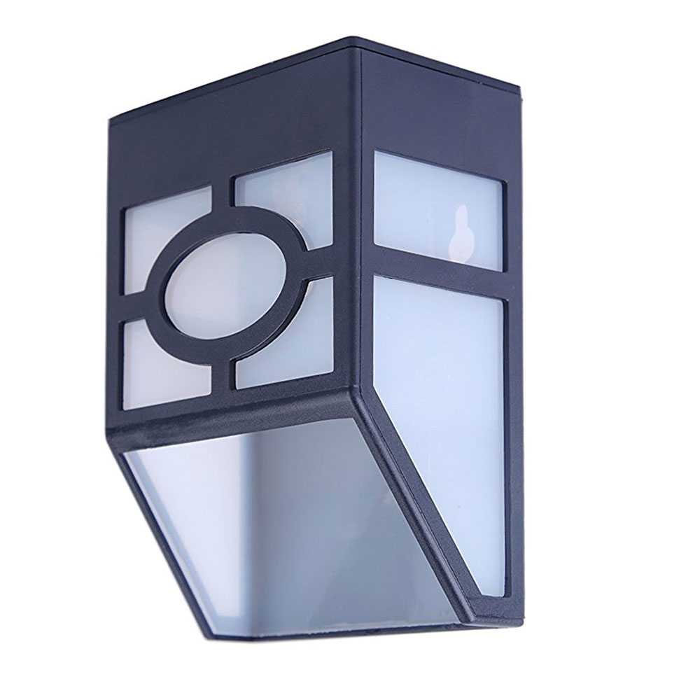 Solar-Powered-Wall-Mount-LED-Light-Outdoor-Garden-Path-Landscape-Fence-Yard-Lamp