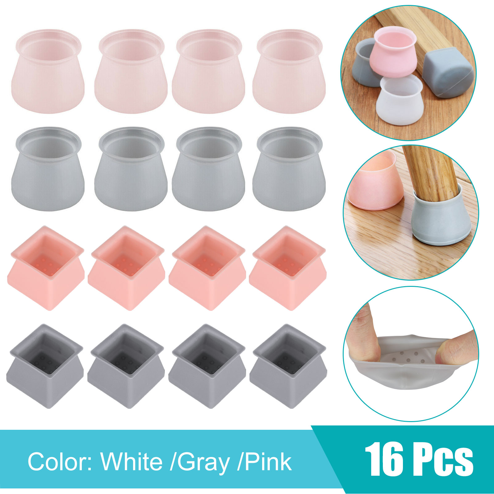 4/8/16pcs Silicone Furniture Leg Protection Cover Table Feet