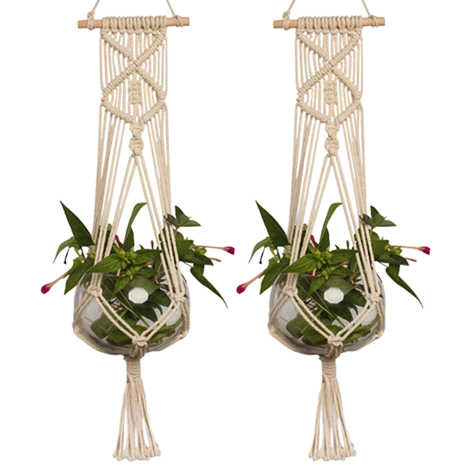 Pot-Holder-Macrame-Plant-Hanger-Hanging-Planter-Basket-Jute-Rope-Braided-Craft thumbnail 12