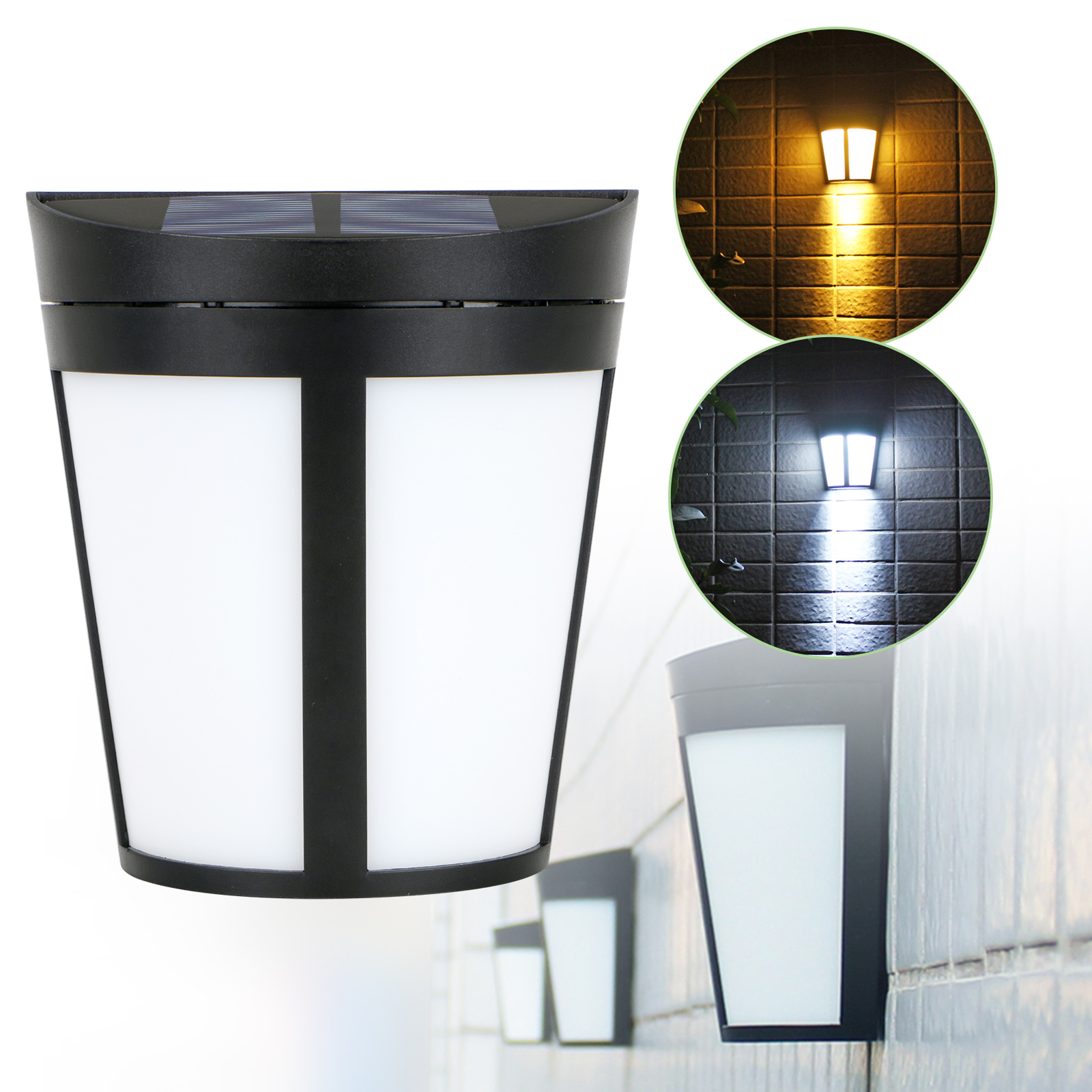solar power led lights outdoor waterproof wall