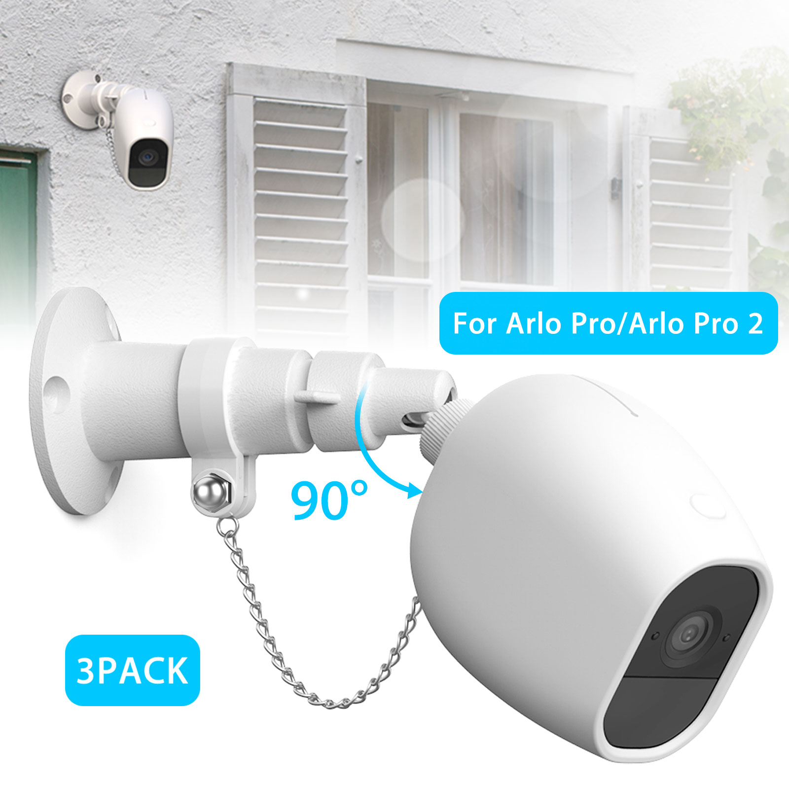 Anti-Theft-Security-Chain-for-Arlo-Pro-Arlo-Pro-2-Wall-Mount-Silicone-1-2-3pcs thumbnail 12