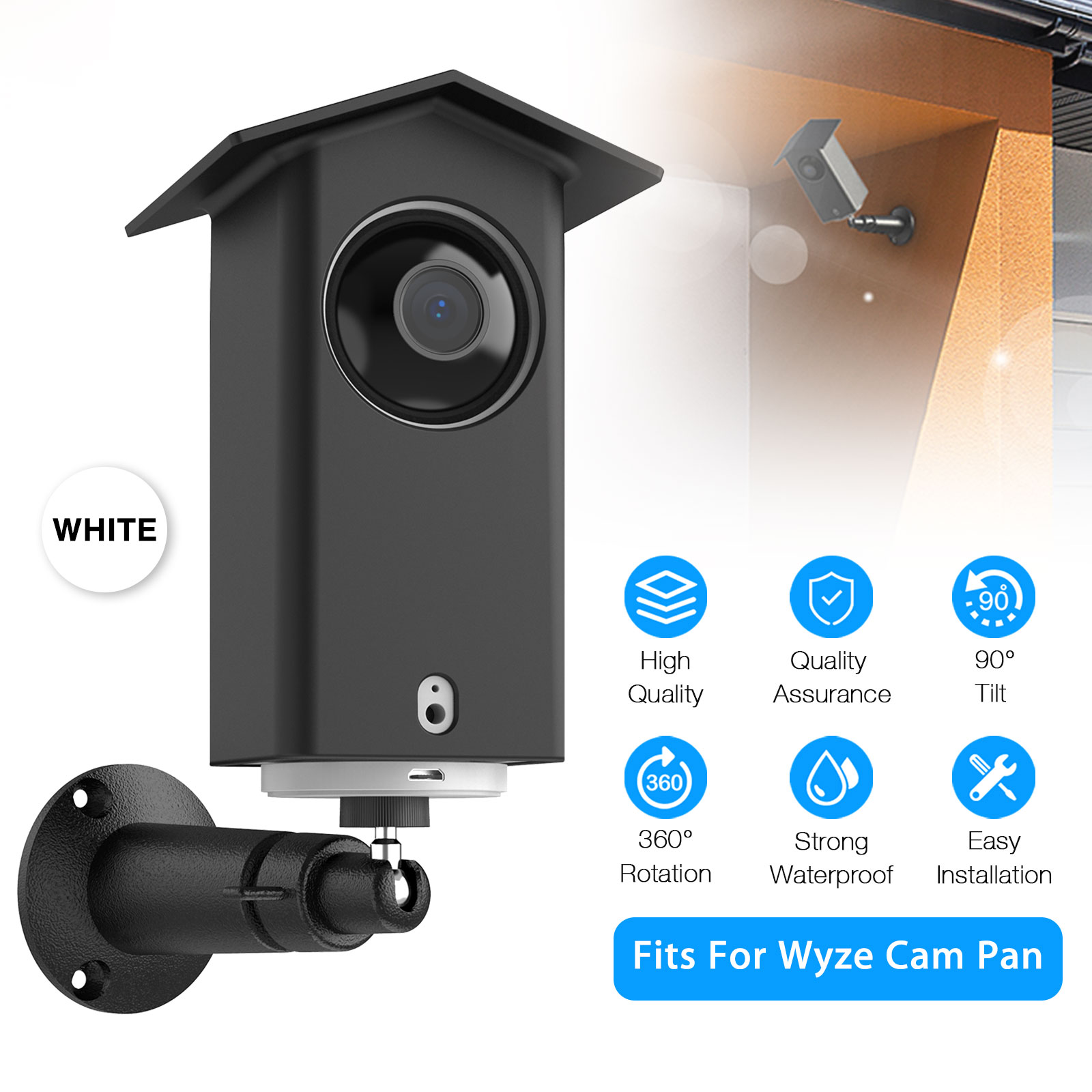 Security Camera Wall Mount Bracket Cover Case For Wyze Cam P