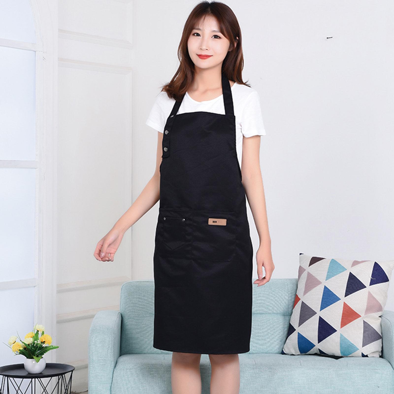 Women-Men-Waterproof-Kitchen-Bib-Aprons-Dress-Chef-BBQ-Cooking-Baking-Restaurant thumbnail 10