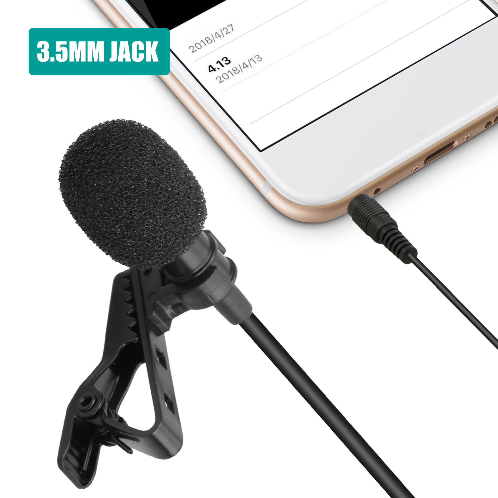 Seismic Audio Lavalier Microphone for Wireless Microphone System Lapel,Clip On