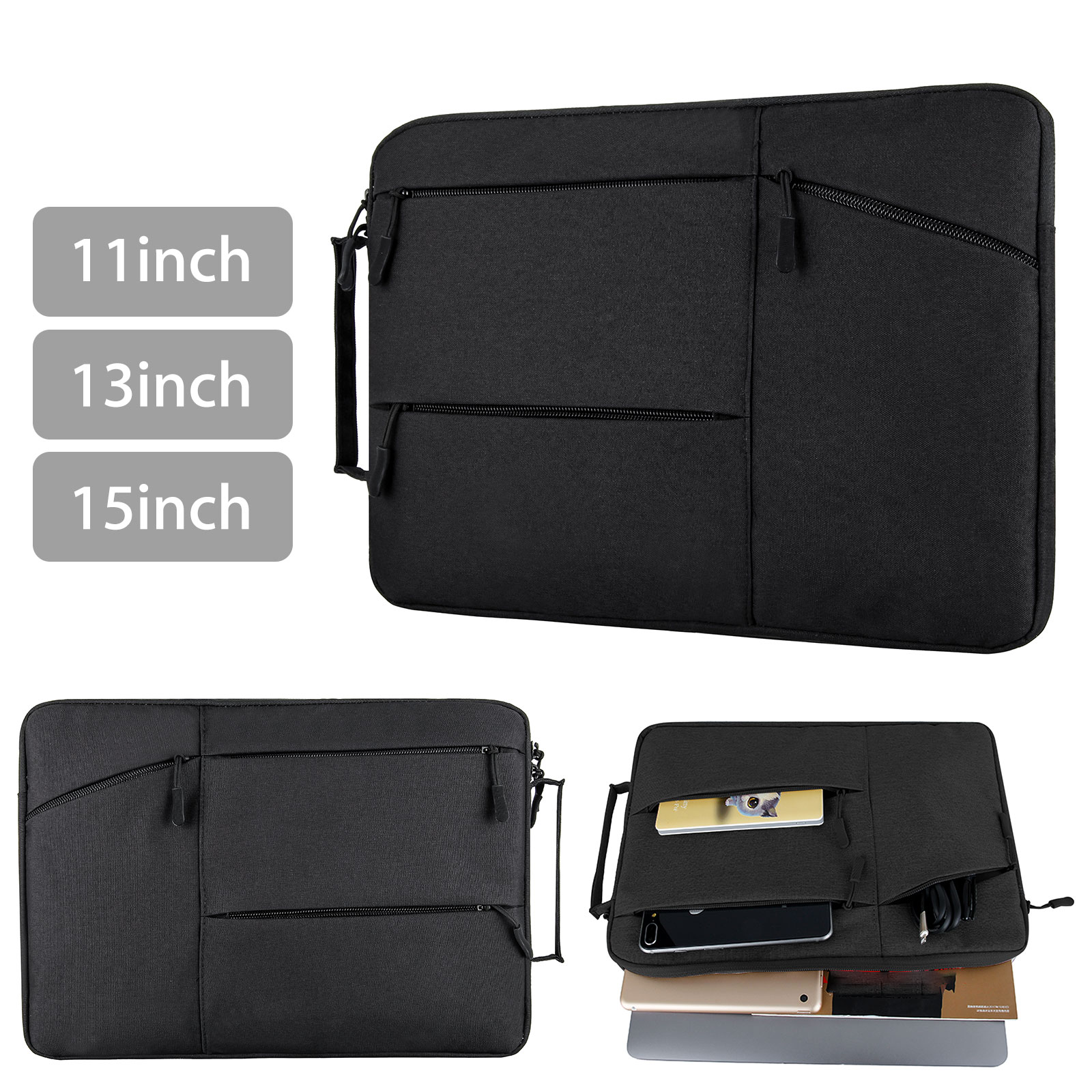 """11"""" 13"""" 15""""  Laptop Sleeve Case Pouch Bag For Macbook Dell L"""