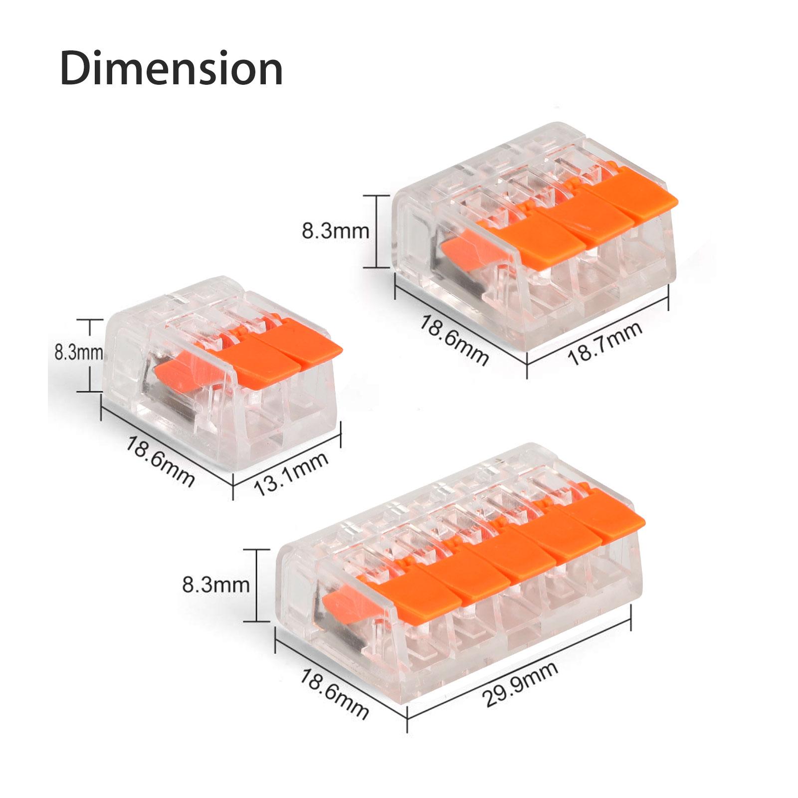 thumbnail 7 - 75Pcs 221-412 Lever Nut Compact Splicing Wire Connectors - 2/3/5 Conductor Set
