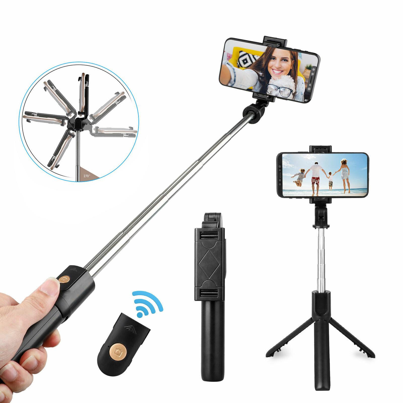 Wireless BT Selfie Stick Shutter Remote Extendable Tripod Ph