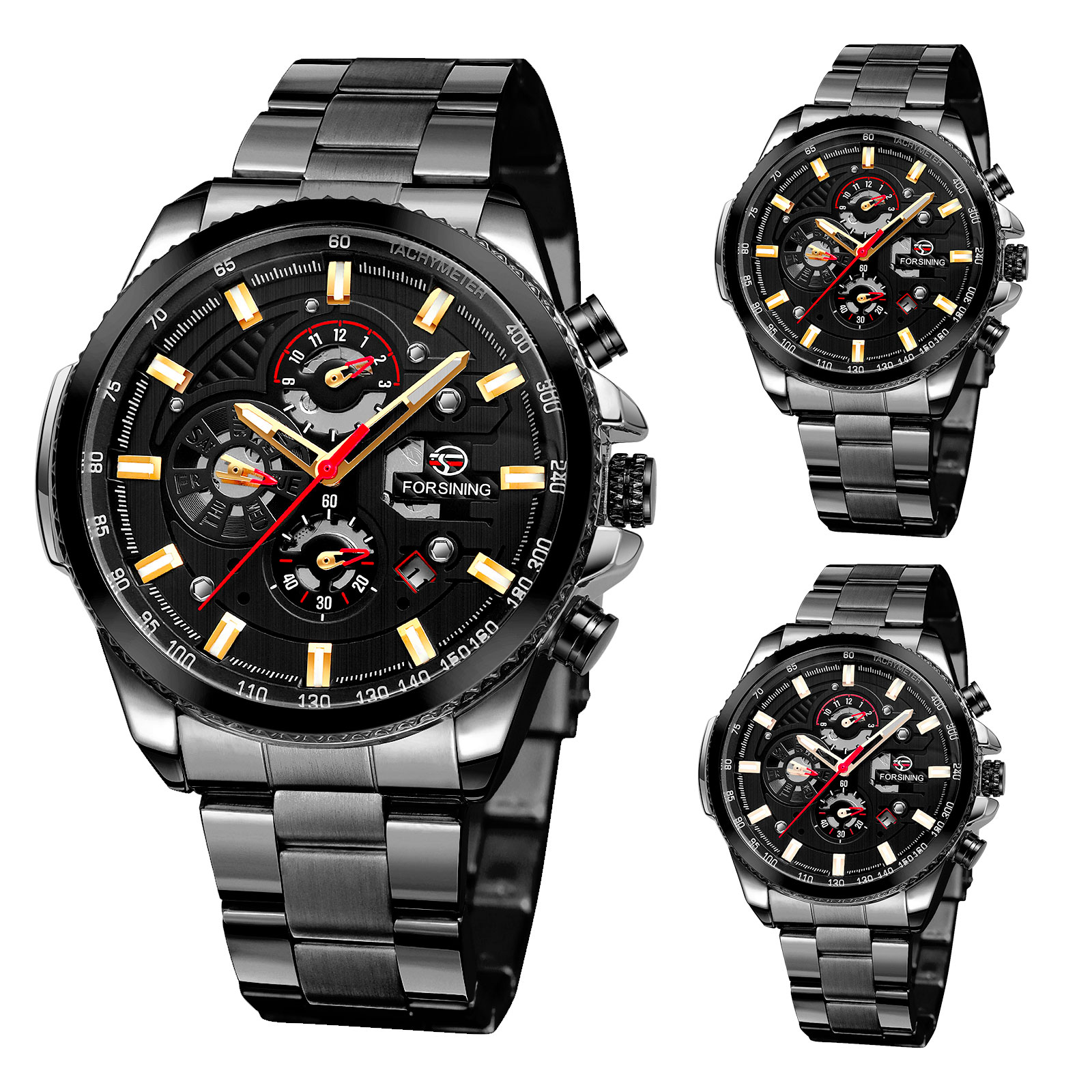 FORSINING Mens Sports Watch Classic Mechanical Automatic Cal