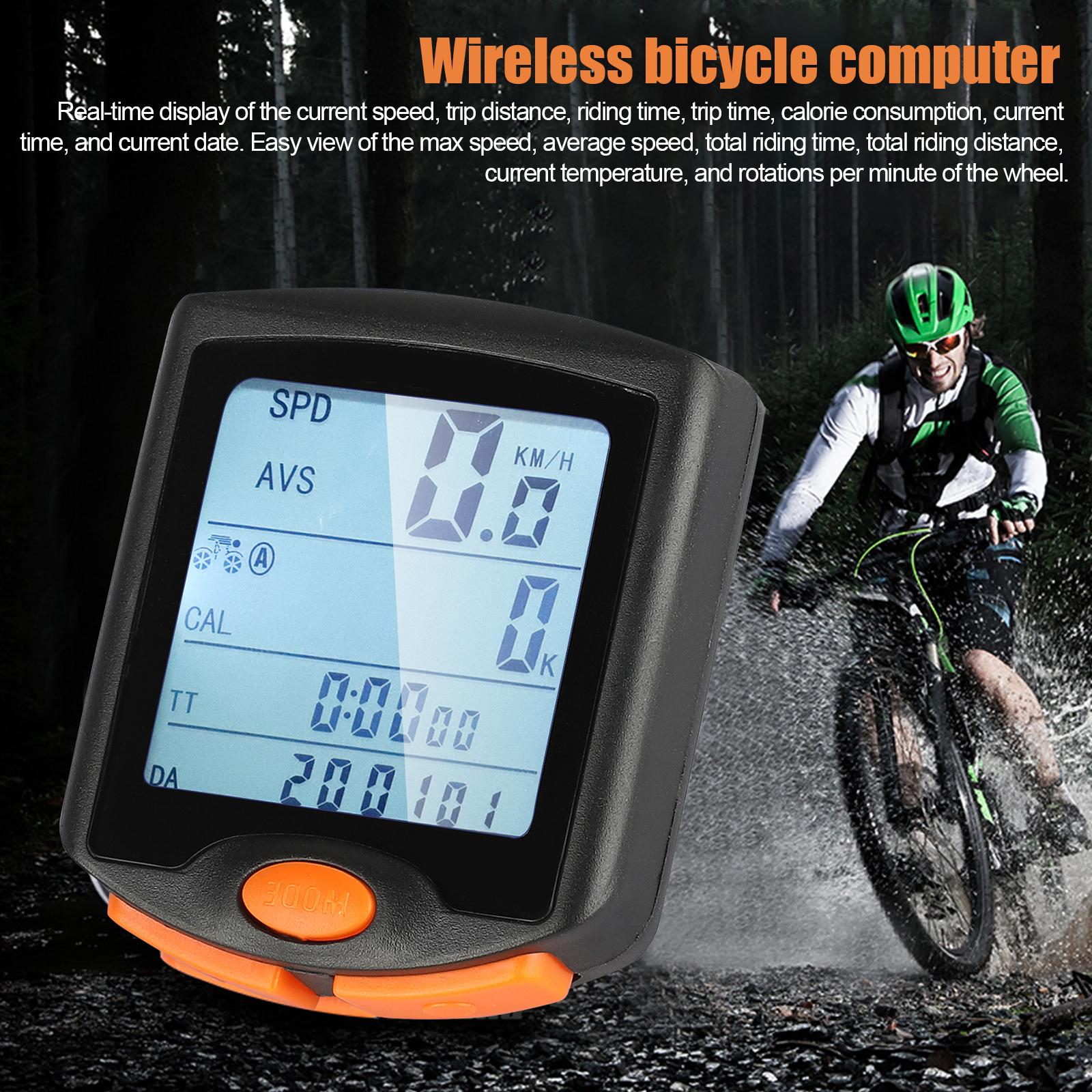 thumbnail 17 - Waterproof-Wireless-Bicycle-Bike-Cycle-LCD-Digital-Computer-Speedometer-Odometer