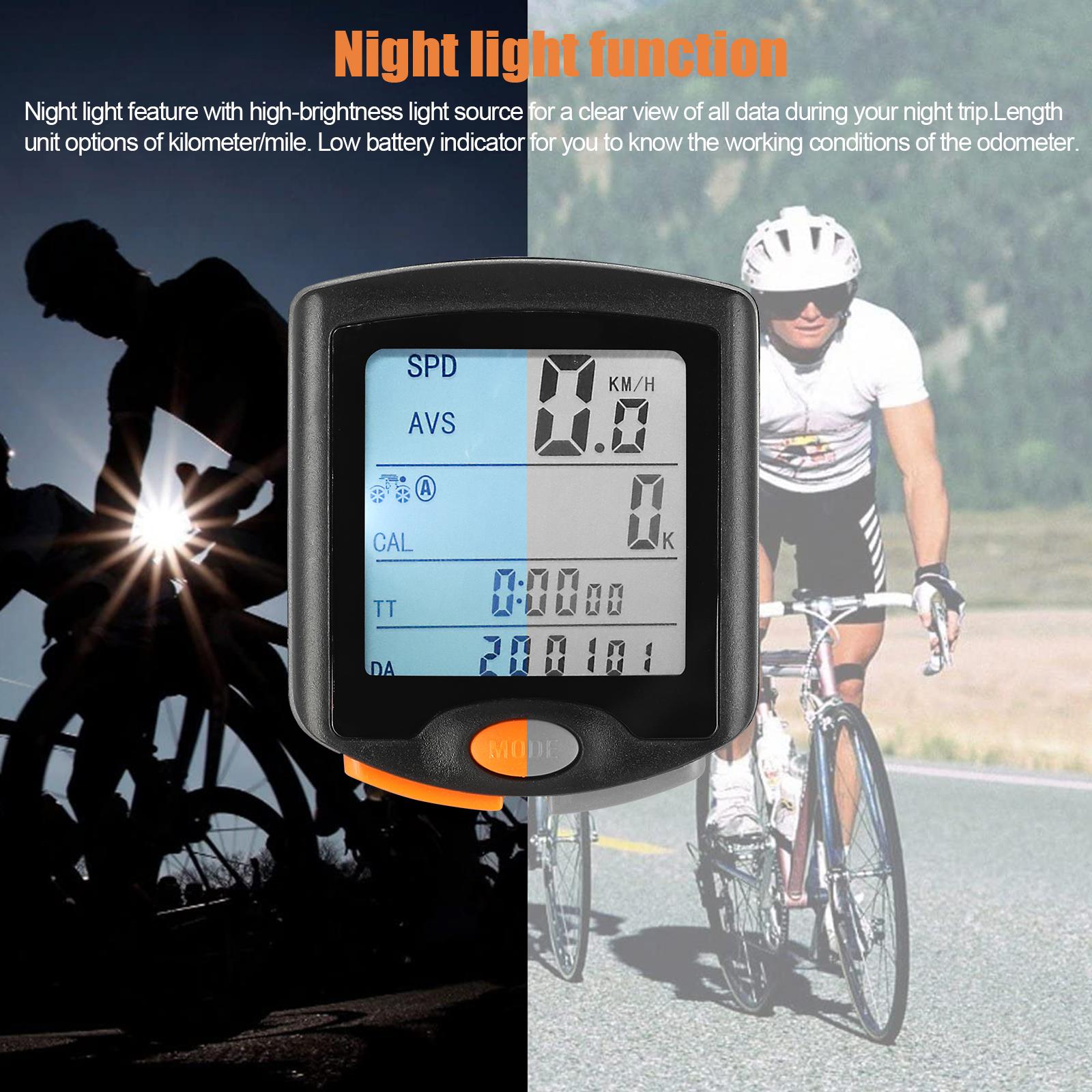 thumbnail 19 - Waterproof-Wireless-Bicycle-Bike-Cycle-LCD-Digital-Computer-Speedometer-Odometer