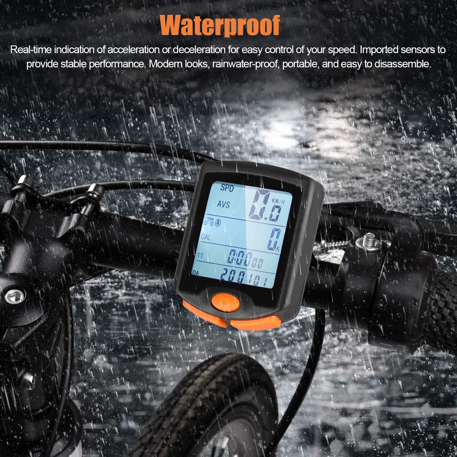 thumbnail 20 - Waterproof-Wireless-Bicycle-Bike-Cycle-LCD-Digital-Computer-Speedometer-Odometer