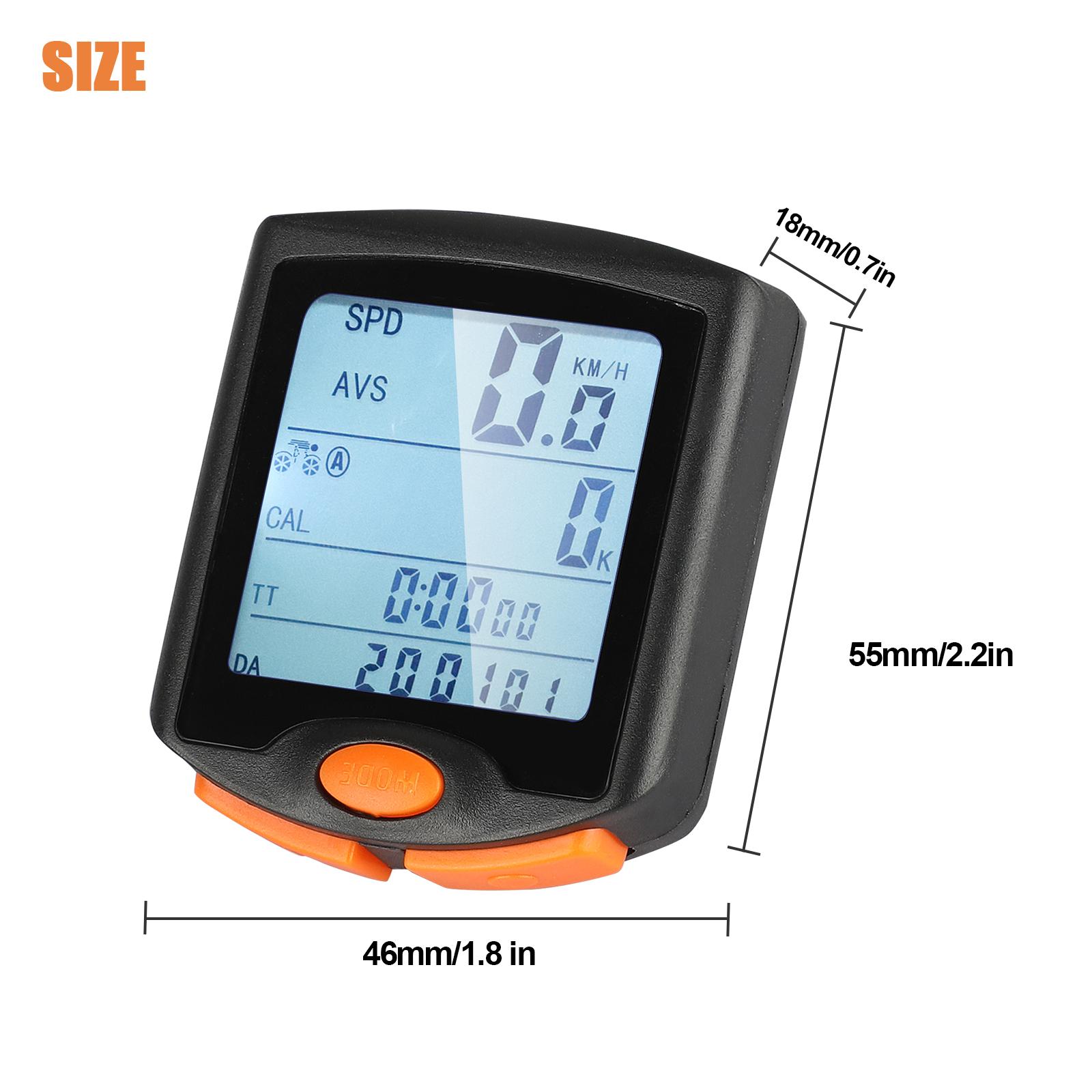 thumbnail 23 - Waterproof-Wireless-Bicycle-Bike-Cycle-LCD-Digital-Computer-Speedometer-Odometer
