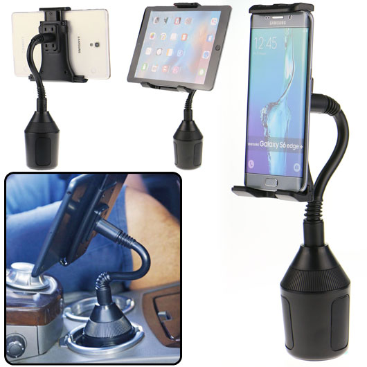 "Adjustable Car Cup Holder Mount For Cell Phone iPad Mini Samsung Tablet 7/""-10/"""